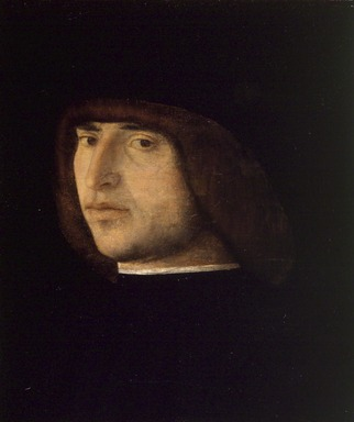 Giovanni Bellini (Italian, Venetian, active by 1459, died 1516). <em>Portrait of a Young Man</em>, ca. 1480. Tempera with oil glazes on panel, 10 1/2 x 8 3/8 in. (26.7 x 21.3 cm). Brooklyn Museum, Gift of the executors of the Estate of Colonel Michael Friedsam, 32.804 (Photo: Brooklyn Museum, 32.804.jpg)
