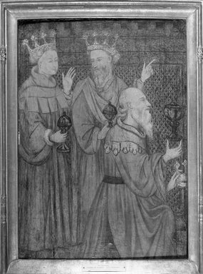 Unknown. <em>The Magi</em>, ca. 1410. Tempera on panel, 30 3/4 x 21 3/4 in. (78.1 x 55.2 cm). Brooklyn Museum, Gift of the executors of the Estate of Colonel Michael Friedsam, 32.816 (Photo: Brooklyn Museum, 32.816_acetate_bw.jpg)