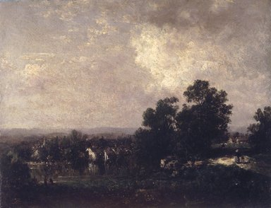 David Johnson (American, 1827-1908). <em>Wallkill Scenery</em>, ca. 1885. Oil on composition board, 8 7/16 x 11 1/16 in. (21.5 x 28.1 cm). Brooklyn Museum, Gift of the executors of the Estate of Colonel Michael Friedsam, 32.830 (Photo: Brooklyn Museum, 32.830.jpg)
