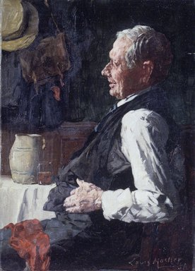 Louis Charles Moeller (American, 1855-1930). <em>Portrait of an Old Man</em>, n.d. Oil on canvas, 6 15/16 x 5 1/16 in. (17.7 x 12.8 cm). Brooklyn Museum, Gift of the executors of the Estate of Colonel Michael Friedsam, 32.836 (Photo: Brooklyn Museum, 32.836.jpg)