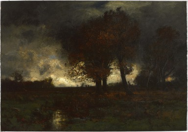 John Francis Murphy (American, 1853-1921). <em>A Stormy Day</em>, 1887. Oil on canvas, frame: 32 1/2 x 40 1/2 x 5 1/2 in. (82.6 x 102.9 x 14 cm). Brooklyn Museum, Gift of the executors of the Estate of Colonel Michael Friedsam, 32.849 (Photo: , 32.849_PS9.jpg)