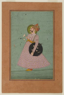 Indian. <em>Portrait of Maharaja Bakhat Singh</em>, early 19th century. Opaque watercolor and gold on paper, sheet: 8 15/16 x 6 in.  (22.7 x 15.2 cm). Brooklyn Museum, Gift of the executors of the Estate of Colonel Michael Friedsam, 32.863 (Photo: Brooklyn Museum, 32.863_IMLS_PS4.jpg)