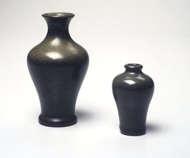 <em>Tea Dust Jar or Vase</em>. Earthenware, glaze, 4 7/8 x 2 3/4 in. (12.4 x 7 cm). Brooklyn Museum, Gift of the executors of the Estate of Colonel Michael Friedsam, 32.899. Creative Commons-BY (Photo: , 32.898_32.899_transp6282.jpg)