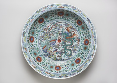 <em>Plate</em>, 1723-1735. Porcelain with overglaze enamel decoration, 3 1/4 × 18 in. (8.3 × 45.7 cm). Brooklyn Museum, Gift of the executors of the Estate of Colonel Michael Friedsam, 32.931a. Creative Commons-BY (Photo: , 32.931a_edited_PS11.jpg)