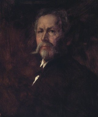 Eastman Johnson (American, 1824-1906). <em>Self Portrait</em>, ca. 1890. Oil on canvas, 24 x 19 15/16 in. (60.9 x 50.7 cm). Brooklyn Museum, Carll H. de Silver Fund, 33.137 (Photo: Brooklyn Museum, 33.137.jpg)