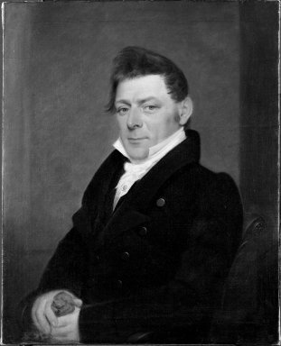 John Paradise (American, 1783-1833). <em>John Baltic Gassner</em>, 1827. Oil on canvas, 29 15/16 x 24 1/8 in. (76 x 61.2 cm). Brooklyn Museum, Bequest of George H. Betts, 33.142 (Photo: Brooklyn Museum, 33.142_after_treatment_bw.jpg)