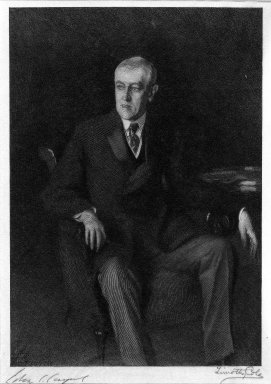 Timothy Cole (American, 1852-1931). <em>Woodrow Wilson</em>, 1918. Wood engraving, image: 8 1/16 × 6 15/16 in. (20.5 × 17.6 cm). Brooklyn Museum, Gift of Charles F. Zimmele, 33.241 (Photo: Brooklyn Museum, 33.241_bw.jpg)