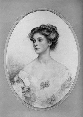 John Shenton Eland (British, 1872-1933). <em>Portrait of a Lady</em>. Pastel, 14 3/4 x 10 13/16 in.  (37.5 x 27.5 cm). Brooklyn Museum, Gift of Mrs. John S. Eland, 33.260.1 (Photo: Brooklyn Museum, 33.260.1_acetate_bw.jpg)