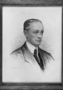 John Shenton Eland (British, 1872-1933). <em>Portrait of a Man</em>. Chalk Brooklyn Museum, Gift of Mrs. John S. Eland, 33.260.2 (Photo: Brooklyn Museum, 33.260.2_acetate_bw.jpg)
