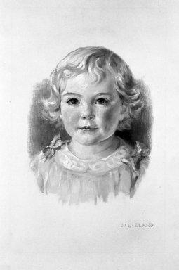 John Shenton Eland (British, 1872-1933). <em>Child's Head</em>. Chalk Brooklyn Museum, Gift of Mrs. John S. Eland, 33.260.3 (Photo: Brooklyn Museum, 33.260.3_bw.jpg)