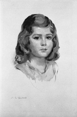 John Shenton Eland (British, 1872-1933). <em>Portrait of Child in Yellow Dress</em>, 20th century. Tempera, Sheet: 18 1/4 x 11 1/2 in. (46.4 x 29.2 cm). Brooklyn Museum, Gift of Mrs. John S. Eland, 33.260.6 (Photo: Brooklyn Museum, 33.260.6_bw.jpg)