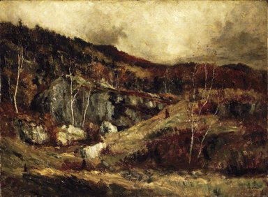 Robert Crannell Minor (American, 1839-1904). <em>In the Adirondacks</em>, ca. 1890. Oil on canvas, 22 1/16 x 29 15/16 in. (56 x 76.1 cm). Brooklyn Museum, Gift of Cornelia E. and Jennie A. Donnellon, 33.268 (Photo: Brooklyn Museum, 33.268_transp1126.jpg)