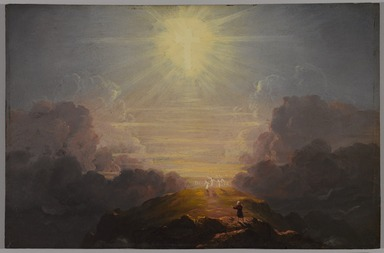 Thomas Cole (American, born England, 1801-1848). <em>Study for The Cross and the World......</em>, ca. 1846-1847. Oil on panel, 11 7/8 x 18 3/16 in. (30.1 x 46.2 cm). Brooklyn Museum, Gift of Cornelia E. and Jennie A. Donnellon, 33.274 (Photo: , 33.274_PS9.jpg)