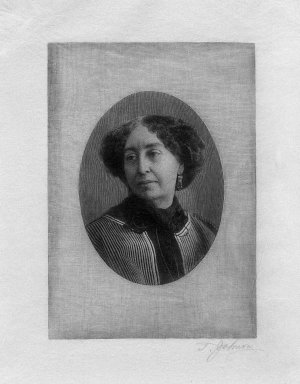 Thomas Johnson (American, born England, 1843-1904). <em>George Sand</em>, n.d. Wood engraving on white Japan tissue paper, Sheet: 11 5/8 x 9 1/4 in. (29.5 x 23.5 cm). Brooklyn Museum, Gift of Spencer Bickerton, 33.347 (Photo: Brooklyn Museum, 33.347_bw.jpg)