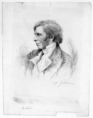 Thomas Johnson (American, born England, 1843-1904). <em>Ruskin</em>, 19th century. Etching (drypoint) on cream colored laid paper, 12 3/8 x 9 7/16 in. (31.5 x 24 cm). Brooklyn Museum, Gift of Spencer Bickerton, 33.349 (Photo: Brooklyn Museum, 33.349_bw.jpg)