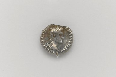 Greek. <em>Denarius of Augustus</em>, 27 B.C.E.E.-14 C.E. Silver, 11/16 x 3/4 x 1/16 in. (1.7 x 1.9 x 0.2  cm). Brooklyn Museum, Frederick Loeser Fund, 33.403.17. Creative Commons-BY (Photo: Brooklyn Museum, 33.403.17.at_front_PS1.jpg)