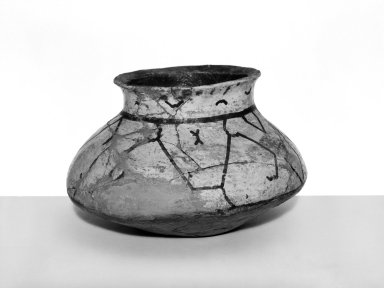 Conibo. <em>Bowl Shaped Pottery Pot</em>. Ceramic Brooklyn Museum, Museum Expedition 1933, Purchased with funds given by Jesse Metcalf, 33.611. Creative Commons-BY (Photo: Brooklyn Museum, 33.611_bw.jpg)