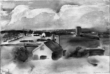 William Zorach (American, born Lithuania, 1887-1966). <em>After the Storm</em>. Watercolor Brooklyn Museum, John B. Woodward Memorial Fund, 33.89. © artist or artist's estate (Photo: Brooklyn Museum, 33.89_acetate_bw.jpg)