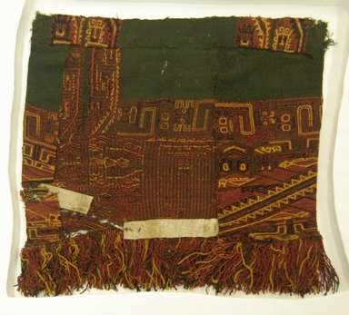 Paracas. <em>Part of Mantle</em>. Cotton? camelid fiber? Brooklyn Museum, 33260. Creative Commons-BY (Photo: Brooklyn Museum, 33260_front_PS5.jpg)
