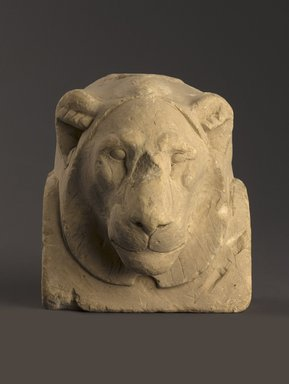 <em>Sculptor's Model Bust of a Lion</em>, 664-30 B.C.E. Limestone, 6 x 5 3/8 x 4 5/16 in. (15.2 x 13.7 x 11 cm). Brooklyn Museum, Charles Edwin Wilbour Fund, 34.1003. Creative Commons-BY (Photo: Brooklyn Museum, 34.1003_PS9.jpg)