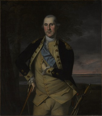 Charles Willson Peale (American, 1741-1827). <em>George Washington</em>, 1776. Oil on canvas, 44 x 38 5/16 in. (111.7 x 97.3 cm). Brooklyn Museum, Dick S. Ramsay Fund, 34.1178 (Photo: , 34.1178_PS9.jpg)