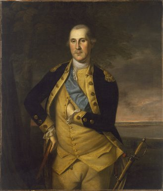 Charles Willson Peale (American, 1741-1827). <em>George Washington</em>, 1776. Oil on canvas, 44 x 38 5/16 in. (111.7 x 97.3 cm). Brooklyn Museum, Dick S. Ramsay Fund, 34.1178 (Photo: Brooklyn Museum, 34.1178_SL3.jpg)