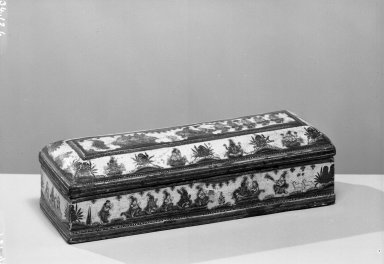 <em>Writing Case</em>, early 19th century. Lacquer Brooklyn Museum, Brooklyn Museum Collection, 34.126. Creative Commons-BY (Photo: Brooklyn Museum, 34.126_acetate_bw.jpg)