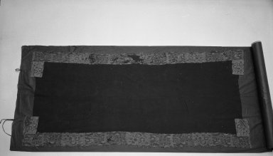 Proto-Nazca. <em>Headcloth?, Fragment or Mantle, Fragment</em>, 100-200 C.E. Cotton, camelid fiber, a: 95 11/16 x 5 1/2 in.  (243.0 x 14.0 cm). Brooklyn Museum, Alfred W. Jenkins Fund, 34.1542a-e (Photo: Brooklyn Museum, 34.1542a-e_acetate_bw.jpg)