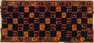 Nazca. <em>Mantle</em>, 0-100 C.E. Cotton, camelid fiber, 117 11/16 x 53 15/16 in. (298.9 x 137 cm). Brooklyn Museum, Alfred W. Jenkins Fund, 34.1558. Creative Commons-BY (Photo: Brooklyn Museum, 34.1558.jpg)