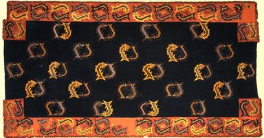 Nazca. <em>Mantle</em>, 0-100 C.E. Cotton, camelid fiber, textile: 118 1/8 x 63 3/4 in. (300 x 162 cm). Brooklyn Museum, Alfred W. Jenkins Fund, 34.1560 (Photo: Brooklyn Museum, 34.1560_SL1.jpg)