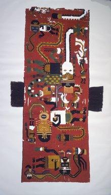 Nazca. <em>Poncho or Tunic</em>, 100-200 C.E. Camelid fiber, 74 7/16 x 27 9/16 in. (189.1 x 70 cm). Brooklyn Museum, Alfred W. Jenkins Fund, 34.1579 (Photo: Brooklyn Museum, 34.1579_front.jpg)