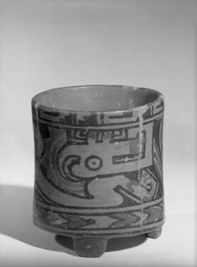 <em>Jar</em>, 500-800. Ceramic, 4 5/8 x 4 1/4 x 4 5/8 in. (11.7 x 10.8 x 11.7 cm). Brooklyn Museum, Alfred W. Jenkins Fund, 34.1710. Creative Commons-BY (Photo: Brooklyn Museum, 34.1710_acetate_bw.jpg)