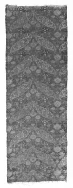 <em>Narrow Rectangular Panel</em>. Brocade Brooklyn Museum, Gift of Pratt Institute, 34.260. Creative Commons-BY (Photo: Brooklyn Museum, 34.260_bw.jpg)