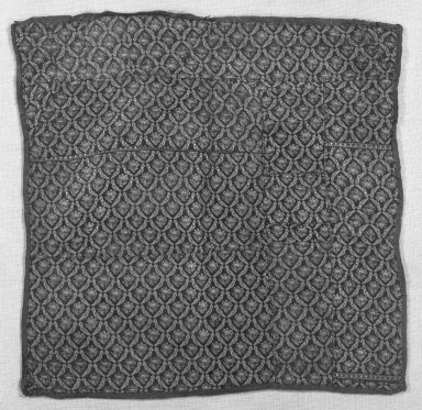 <em>Square Textile</em>. Brocade, printed cotton Brooklyn Museum, Gift of Pratt Institute, 34.380. Creative Commons-BY (Photo: Brooklyn Museum, 34.380_bw.jpg)