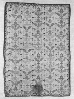 <em>Textile</em>. Patterned silk Brooklyn Museum, Gift of Pratt Institute, 34.382. Creative Commons-BY (Photo: Brooklyn Museum, 34.382_bw.jpg)