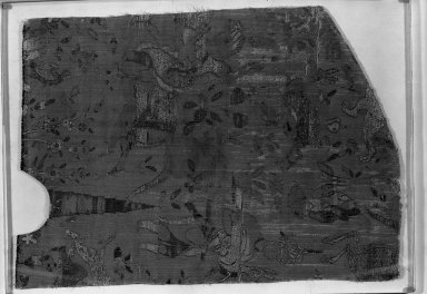 <em>Fragment of Brocade</em>. Brocade Brooklyn Museum, Gift of Pratt Institute, 34.393. Creative Commons-BY (Photo: Brooklyn Museum, 34.393_acetate_bw.jpg)