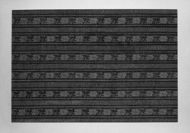 <em>Textile</em>. Brocade Brooklyn Museum, Gift of Pratt Institute, 34.394. Creative Commons-BY (Photo: Brooklyn Museum, 34.394_acetate_bw.jpg)