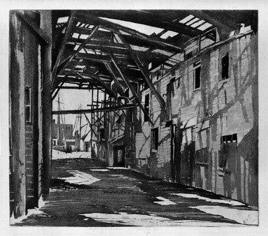 Earl Horter (American, 1881-1940). <em>Light and Shadow</em>, 1932. Aquatint on cream-colored Japan paper, 10 1/16 x 11 7/16 in. (25.5 x 29 cm). Brooklyn Museum, Frank Sherman Benson Fund, 34.415 (Photo: Brooklyn Museum, 34.415_bw.jpg)