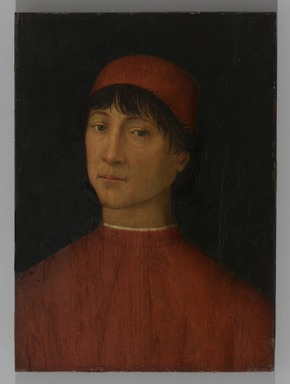 Bernardino di Betto, called Pinturicchio (Italian, Umbrian School, ca. 1454-1513). <em>Portrait of a Young Man</em>, ca. 1500. Tempera on panel, 14 9/16 x 10 9/16 in. (37 x 26.8 cm). Brooklyn Museum, Gift of the executors of the Estate of Colonel Michael Friedsam, 34.486 (Photo: Brooklyn Museum, 34.486_PS1.jpg)