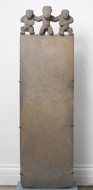 Central Caribbean. <em>Stele</em>, 700-1000. Volcanic stone, 78 9/16 x 23 1/4 x 11 in.  (199.5 x 59 x 27.9 cm). Brooklyn Museum, Alfred W. Jenkins Fund, 34.5098. Creative Commons-BY (Photo: Brooklyn Museum, 34.5098_front_PS4.jpg)