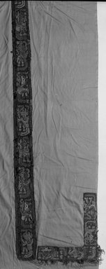 Wari. <em>Tunic, Fragment</em>, 600-1000. Camelid fiber, 21 1/4 × 10 in. (54 × 25.4 cm). Brooklyn Museum, George C. Brackett Fund, 34.551. Creative Commons-BY (Photo: Brooklyn Museum, 34.551_acetate_bw.jpg)