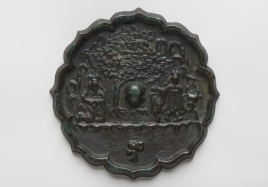 <em>Mirror</em>, 918-1392. Bronze, 1/2 x 6 1/16 in. (1.3 x 15.4 cm). Brooklyn Museum, Brooklyn Museum Collection, 34.5852. Creative Commons-BY (Photo: Brooklyn Museum, 34.5852_PS11.jpg)