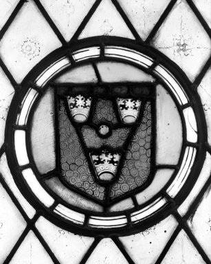 <em>Arms</em>. Stained glass, 12 1/2 x 12 3/4 in. (31.8 x 32.4 cm). Brooklyn Museum, Gift of Mary Babbott Ladd, Lydia Babbott Stokes, Helen Babbott MacDonald, and Dr. Frank L. Babbott, Jr. in memory of their father, Frank L. Babbott, 34.6090.4. Creative Commons-BY (Photo: Brooklyn Museum, 34.6090.4_bw.jpg)