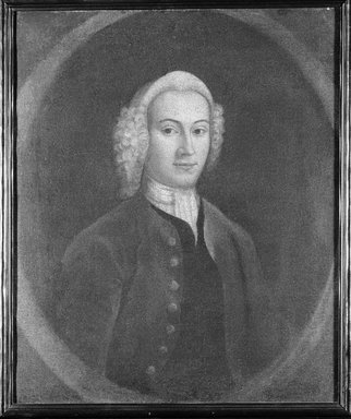 American. <em>Gentleman of the Breckenridge Family of Virginia</em>, ca. 1750. Oil on canvas, 30 x 25 1/16 in. (76.2 x 63.7 cm). Brooklyn Museum, Museum Purchase Fund, 35.1057 (Photo: Brooklyn Museum, 35.1057_bw_SL1.jpg)