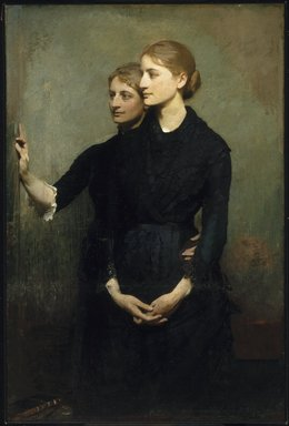Abbott H. Thayer (American, 1849-1921). <em>The Sisters</em>, 1884. Oil on canvas, 54 5/16 x 36 1/4 in. (138 x 92.1 cm). Brooklyn Museum, Bequest of Bessie G. Stillman, 35.1068 (Photo: Brooklyn Museum, 35.1068_SL1.jpg)