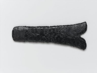 <em>Pesesh-kef (Ritual Implement)</em>, ca. 3300-3100 B.C.E. Obsidian, 3 1/2 x 1/4 x 6 1/2 in. (8.9 x 0.6 x 16.5 cm). Brooklyn Museum, Charles Edwin Wilbour Fund, 35.1445. Creative Commons-BY (Photo: Brooklyn Museum, 35.1445_front_PS2.jpg)