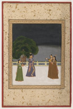 <em>Miniature Painting</em>, late 18th-19th century. Opaque watercolor on paper, 15 9/16 x 10 1/2 in. (39.5 x 26.6 cm). Brooklyn Museum, Brooklyn Museum Collection, 35.1550 (Photo: Brooklyn Museum, 35.1550_IMLS_PS3.jpg)