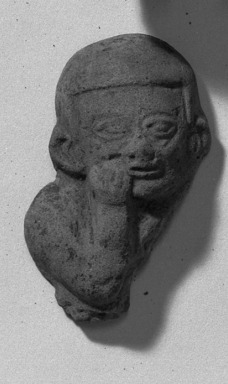 <em>Fragment of Flat Figure</em>. Clay Brooklyn Museum, Gift of Dr. Ernest Franco, 35.1807. Creative Commons-BY (Photo: Brooklyn Museum, 35.1807_acetate_bw.jpg)