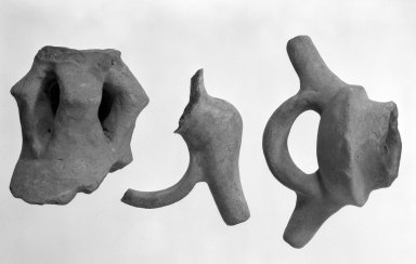 <em>Spout and Part of Stirrup Handle</em>. Clay Brooklyn Museum, Frank Sherman Benson Fund and the Henry L. Batterman Fund, 37.3012PA. Creative Commons-BY (Photo: , 35.1826_37.3012PA_35.1811_bw.jpg)