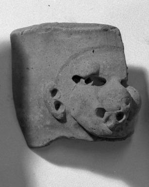 <em>Fragment</em>. Clay Brooklyn Museum, Gift of Dr. Ernest Franco, 35.1827. Creative Commons-BY (Photo: Brooklyn Museum, 35.1827_acetate_bw.jpg)